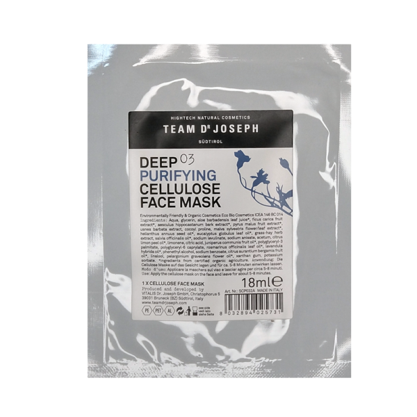 Deep Purifying Cellulose Face Mask